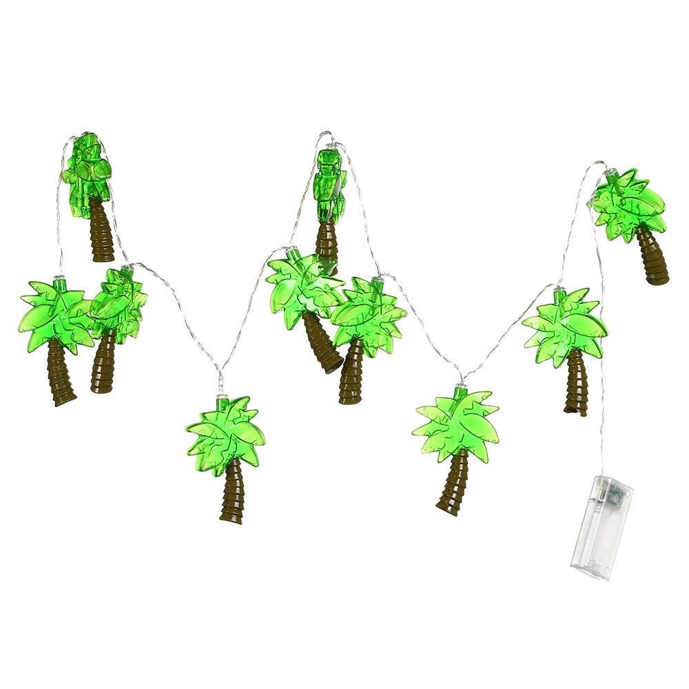 Ouniman Outdoor Party Lights, Palm Tree Patio Lights String Beach Themed Party Decorations, Tropical Party Decorations, Indoor Fun Lights, Birthday String Lights
