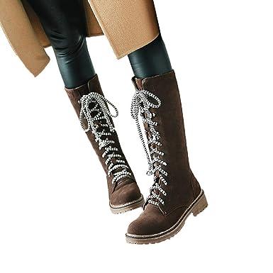the best attitude a75af bf22f TianWlio Stiefel Frauen Herbst Winter Schuhe Stiefeletten ...