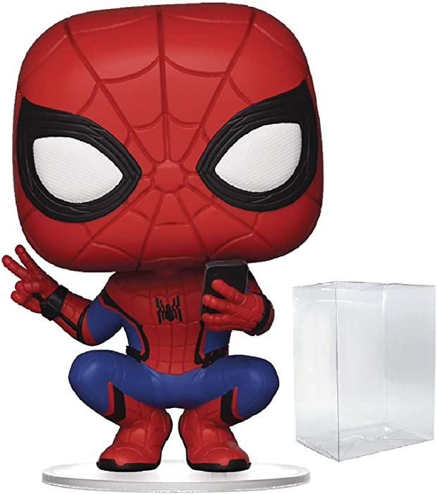 Marvel: Spider-Man Far from Home - Spider-Man Hero Suit Funko Pop! Vinyl Figure (Includes Compatible Pop Box Protector Case)