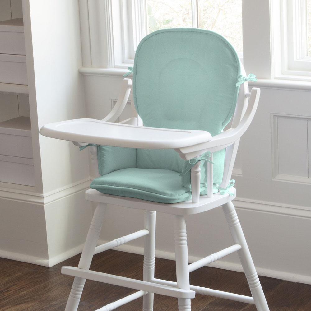 Carousel Designs Solid Seafoam Aqua High Chair Pad