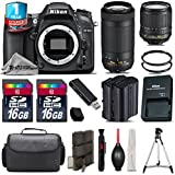 Holiday Saving Bundle for D7100 DSLR Camera + AF-P 70-300mm VR Lens + 18-105mm VR Lens + Backup Battery + 1yr Extended Warranty + 2 Of Ultra Fast 16GB Class 10 + Case - International Version