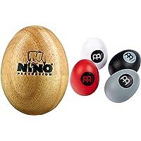 Nino Percussion NINO563 Shaker de madera + Meinl Percussion ESSET Huevo de percusión, 4 piezas