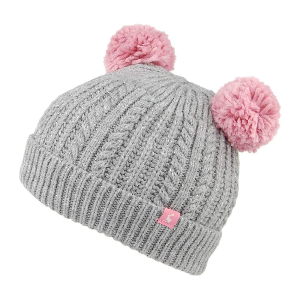 Joules Ailsa Double Pom Pom Girls Hat