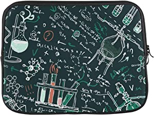 Chemistry Formula Pattern Laptop Sleeve Case 13 13.3 Inch Briefcase Cover Protective Notebook Laptop Bag
