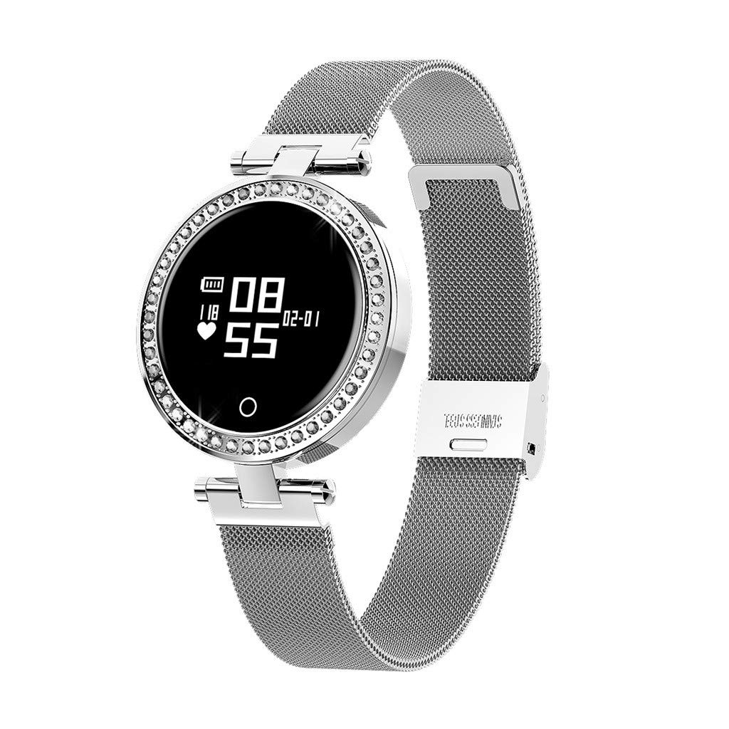 Meidexian888 X10 Women's Blood Pressure&Heart Rate Sport Smart Watch Bracelet for Android IOS (Silver) by Meidexian888 (Image #1)