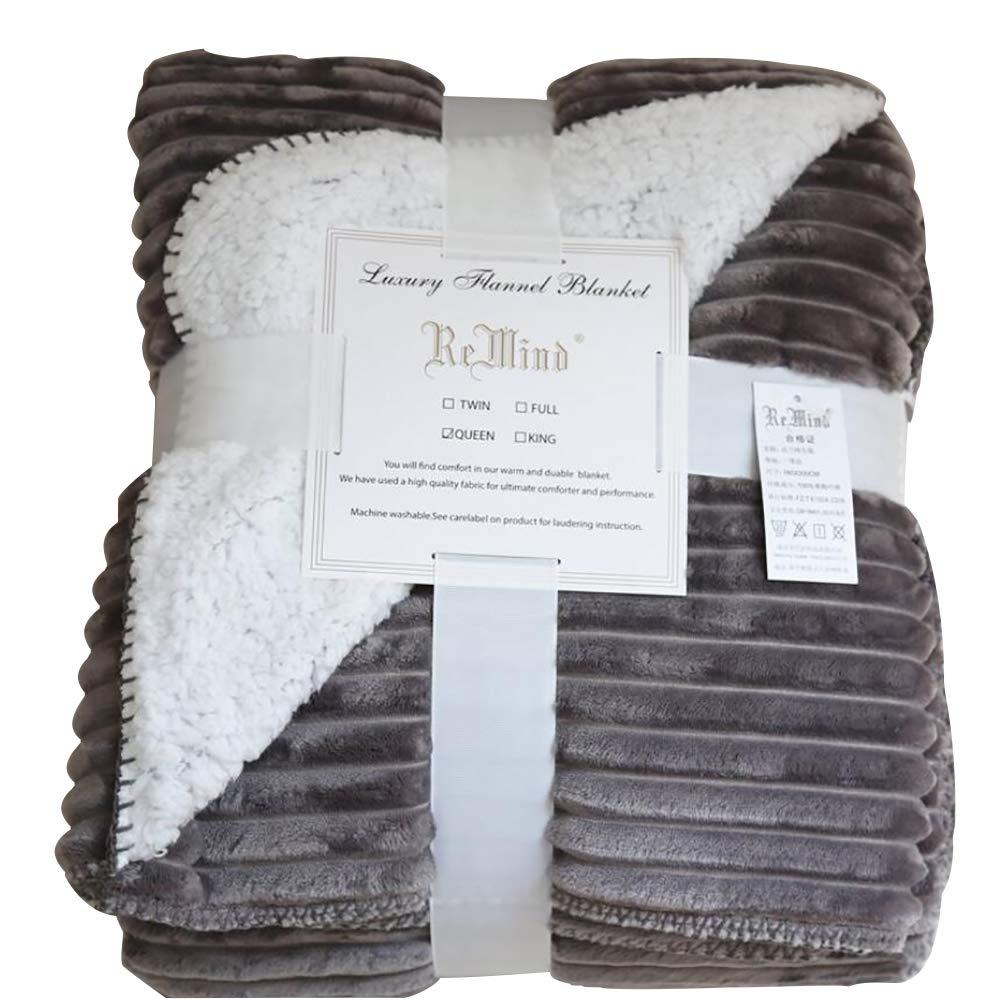 HSBAIS 寝具 毛布 小さい毛布キングサイズ - ソフトブランケット赤ちゃん大人向けフランネルラムベルベット激安ラグジュアリー洗える暖かいシート冬ベッドブランケット,gray_200*230cm B07K765VNJ Gray 200*230cm