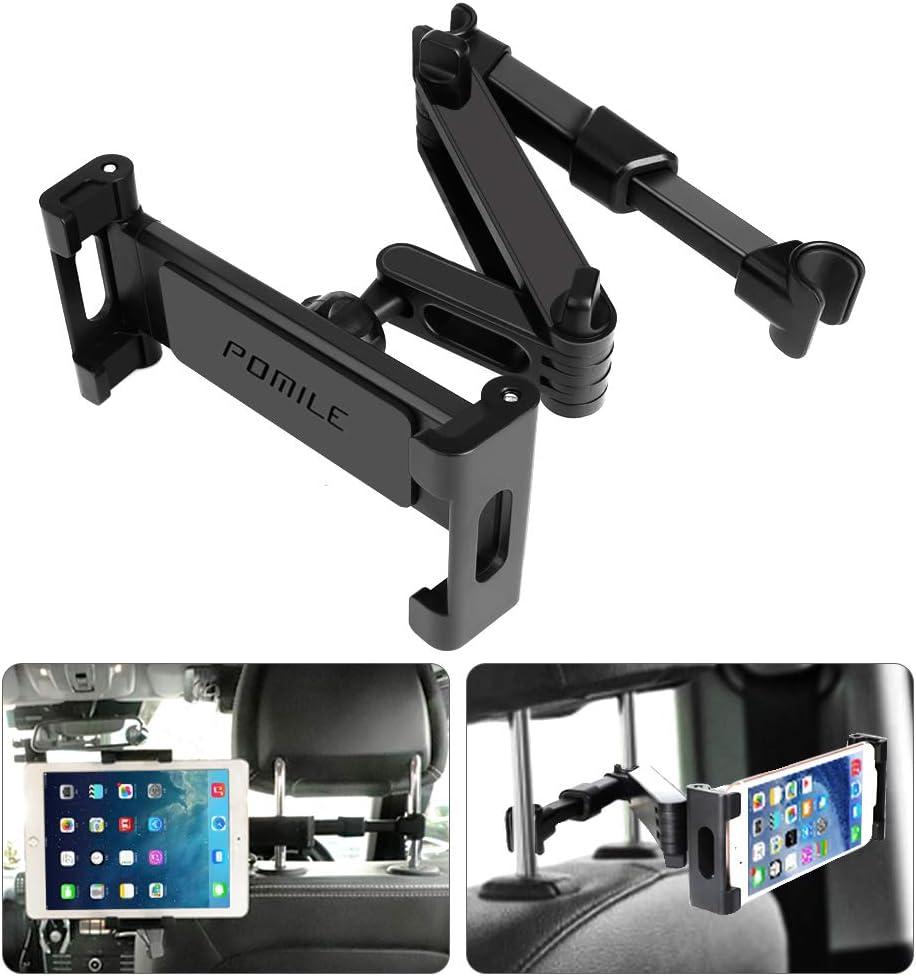 POMILE Soporte Tablet Coche Universal Tablet Asiento Trasero para automóvil Reposacabezas Soporte de Montaje Extensible para Todos 4.6in: Amazon.es: Electrónica