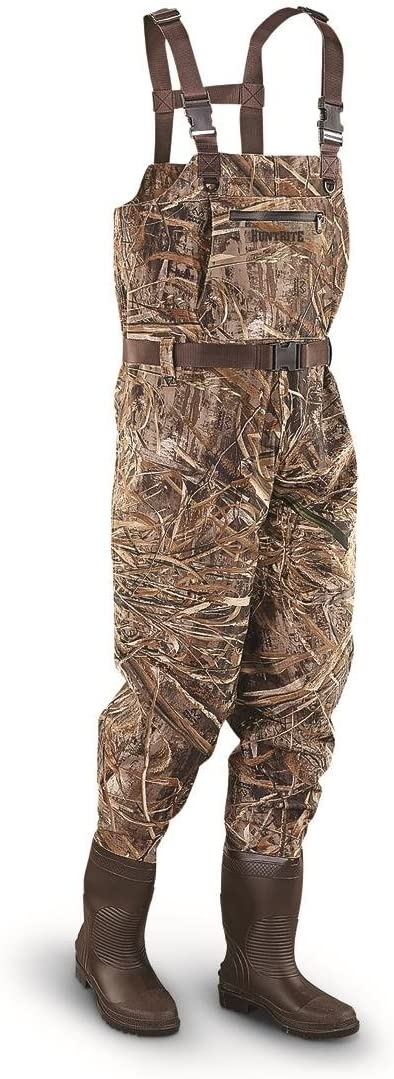 Amazon Com Huntrite Polyester Pvc Chest Waders Realtree Max 5 Sports Outdoors