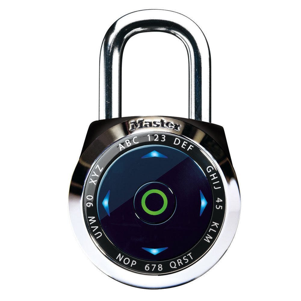 Master Lock 1500eXD 4 Pack 2-1/16in. Dial Speed Combination Digital Padlock, Black or White