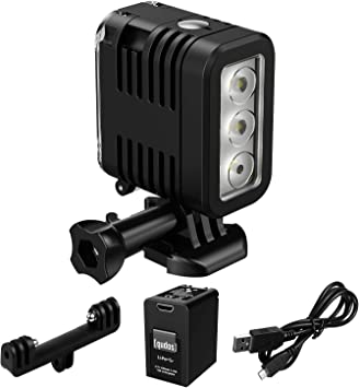 40m for Gopro Hero 9//8//7//6//5//5S//4//4S//3+//2//SJCAM//YI Action Cameras FLASHX Diving Light High Power Dimmable Waterproof 700 Lumen LED Video Fill Night Light Diving Underwater Light Waterproof 147ft