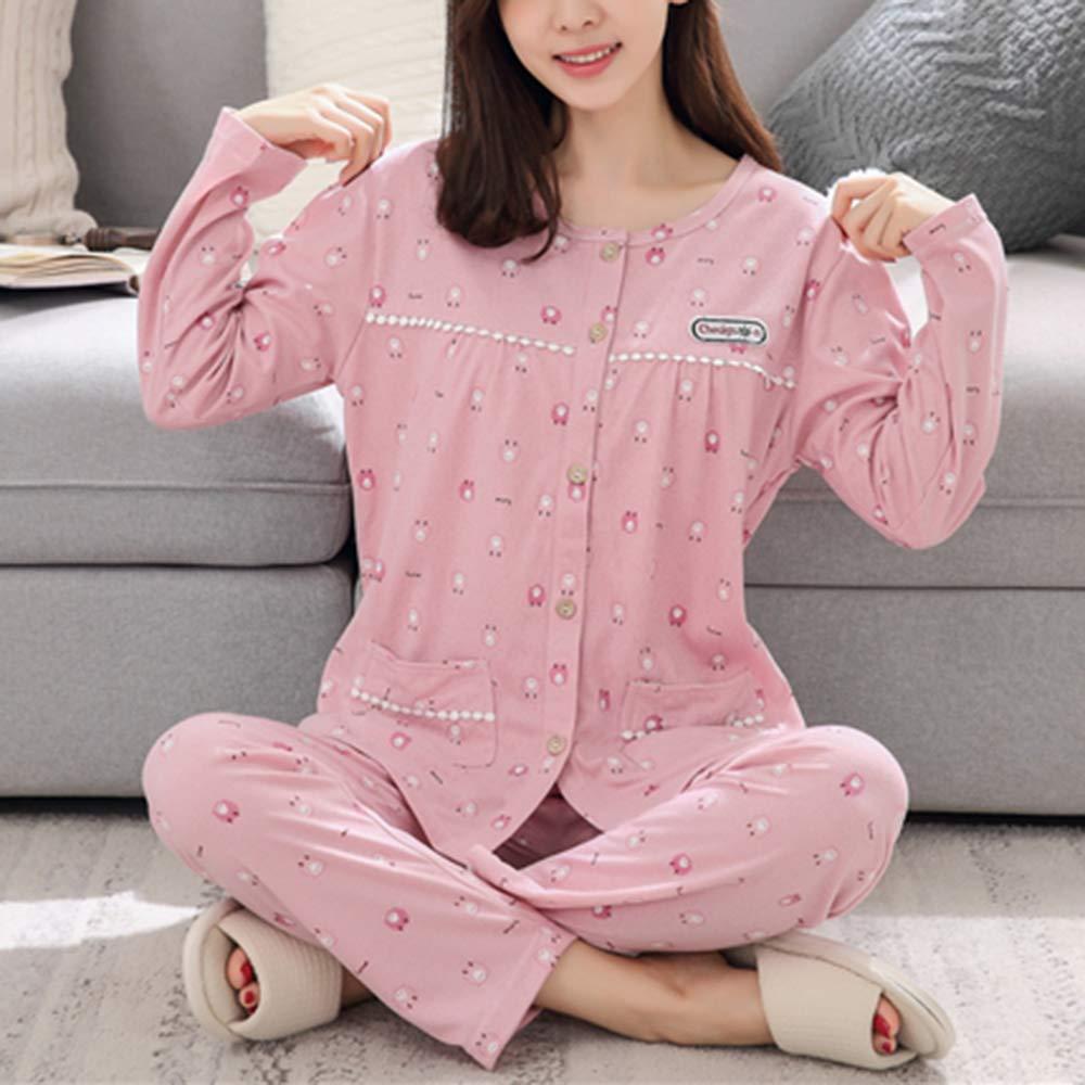 Big Girl Long Sleeve Pajamas Set Cute Pig Print Pajamas