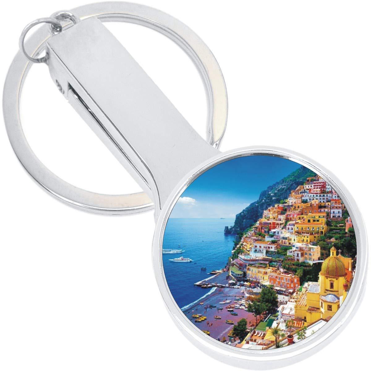 Amalfi Coast Italy Purse Hanger with Keychain