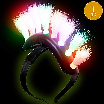 LED Multicolour Lightup Flashing Party Headband Martian Crown SALE !!!