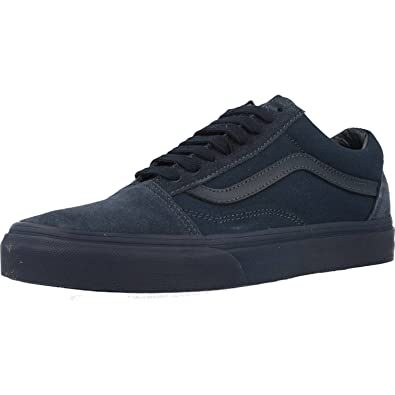 Amazon.com | Vans Unisex Old Skool Mono Skate Shoes-Dress Blues-5.5 ...