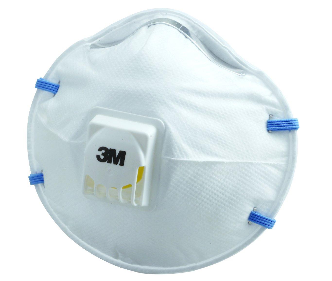 3M 使い捨て防じんマスク排気弁付き10枚