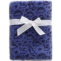 "CREVENT 30""X40"" Lightweight Fuzzy Fluffy Warm Plush Baby Blanket for Boys Infant Toddler Newborn Crib Cot Stroller (Blue…"