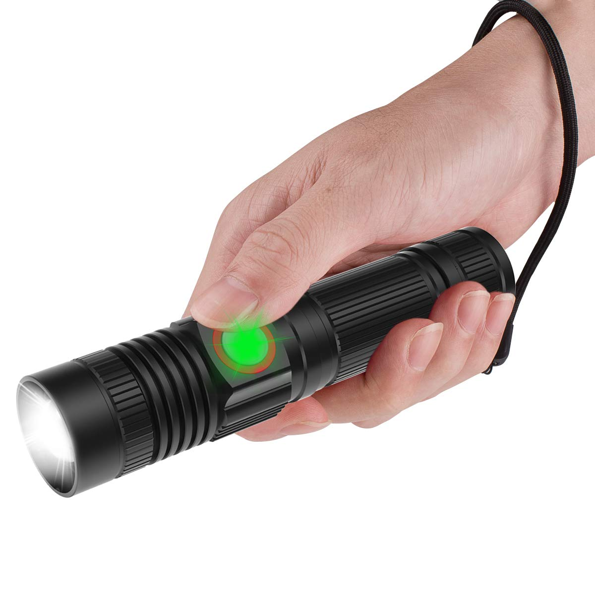 Very bright rechargable led flashlight