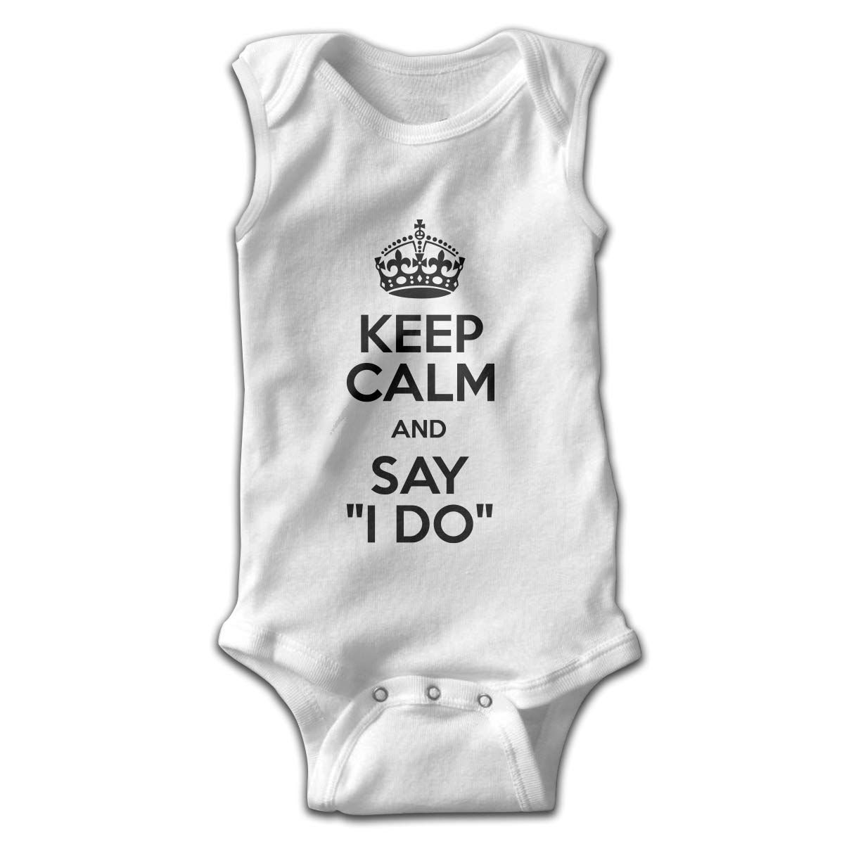 Efbj Toddler Baby Girls Rompers Sleeveless Cotton Jumpsuit,Keep Calm and Say I Do Outfit Autumn Pajamas