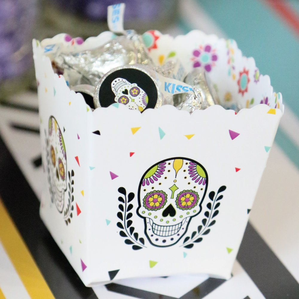 Amazon.com: Day Of The Dead - Candy Boxes Halloween Sugar Skull ...