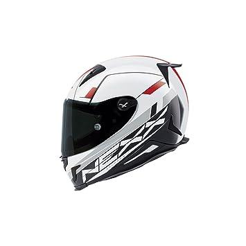Motocicleta Nexx XR2 combustible casco – blanco rojo Reino Unido Vendedor