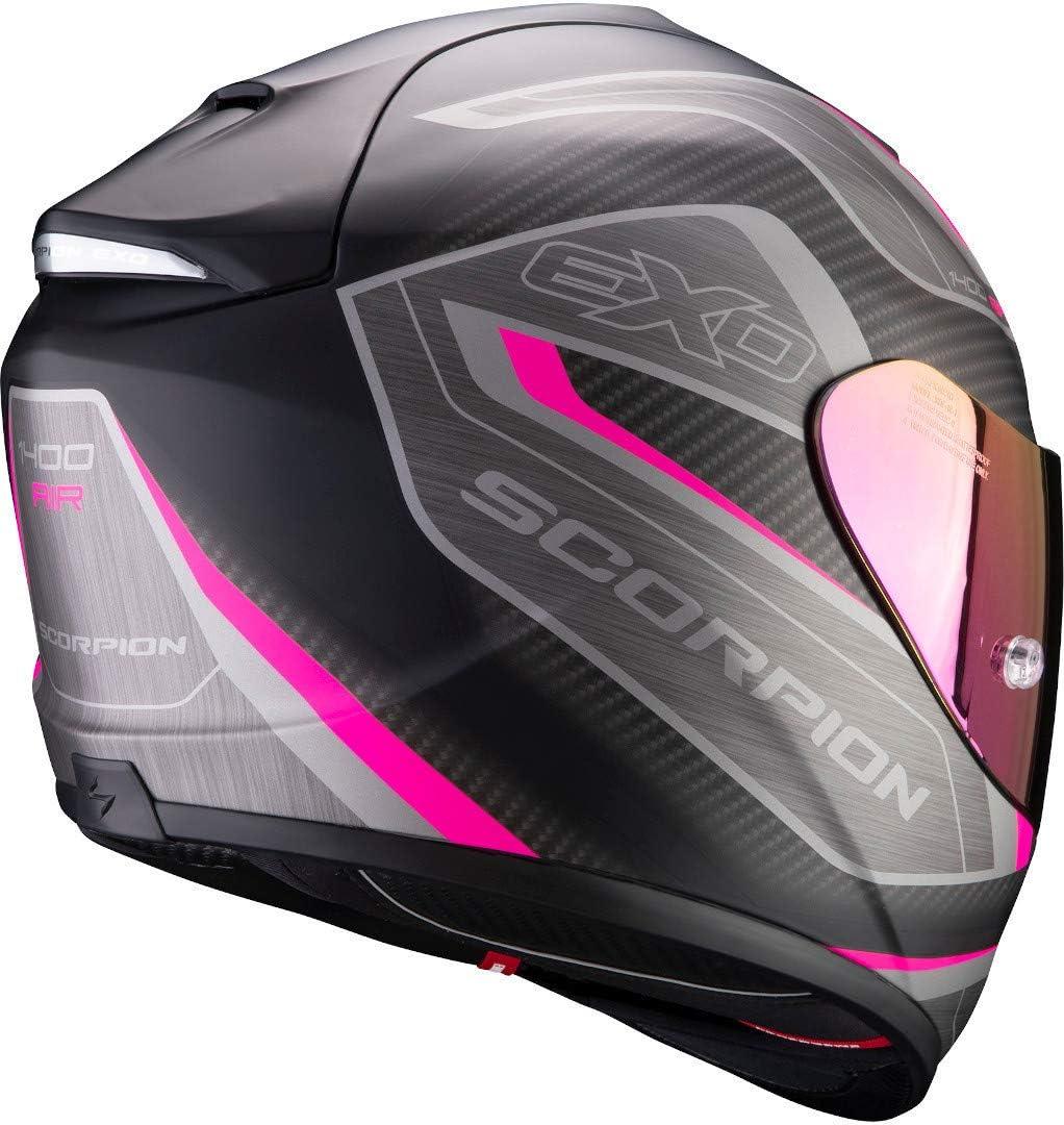 Schwarz//Rosa S Scorpion Motorradhelm EXO-1400 AIR ATTUNE Matt Black-Pink