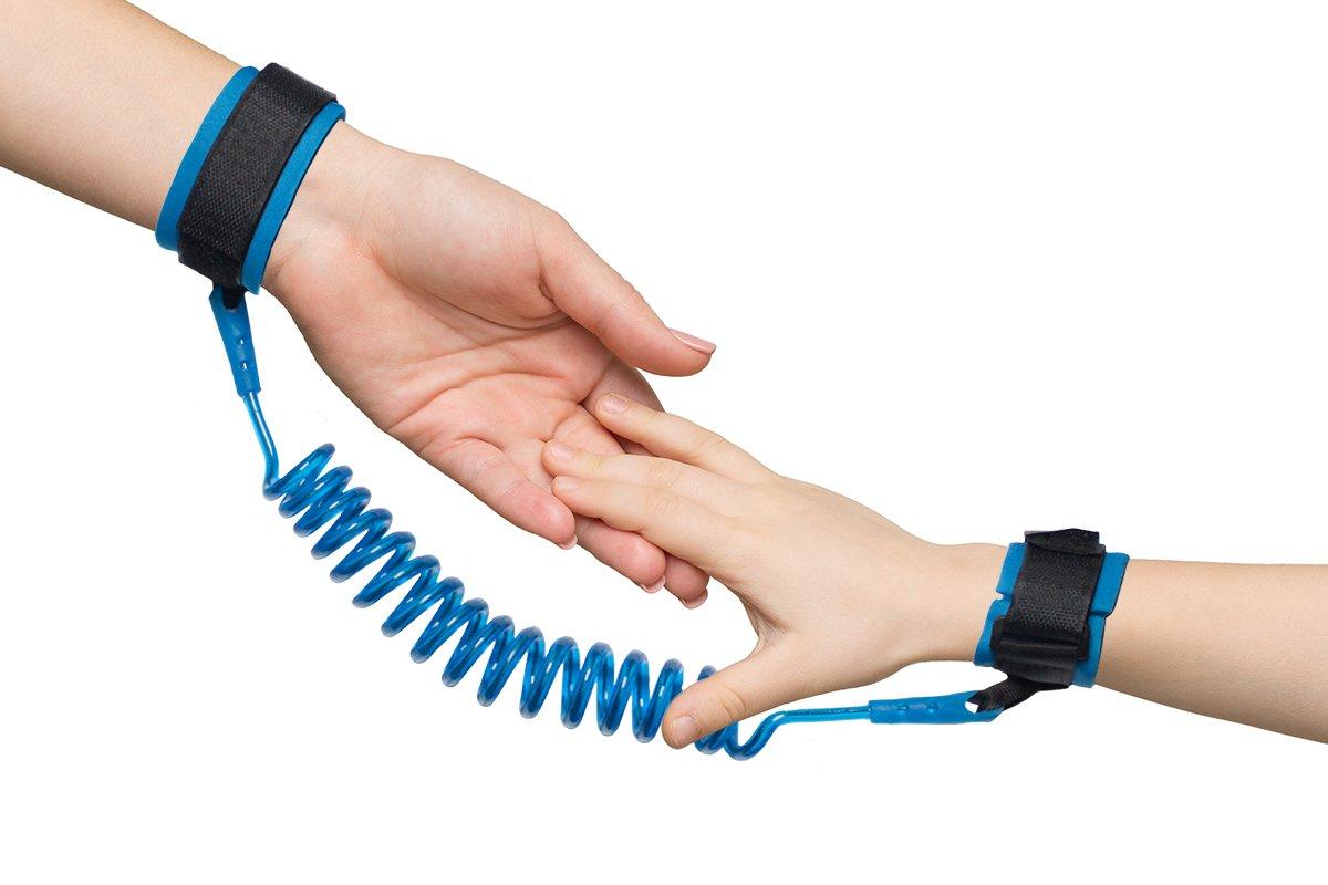 Smartfox Sicherheitsarmband Sicherheitsgurt Handgelenk Kinderleine f/ür Kinder Kleinkinder mit einer Spiralkabell/änge von ca 30-150cm in blau