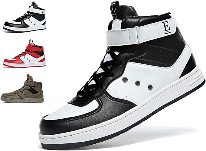 VITIKE Mens High Top Sneakers Casual Lace Up Skateboard Shoes(Size:7 12M US)