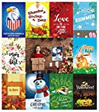 "Turapak Double Sided Seasonal Garden Flag Set For Outdoor | 10 PACK Assortment of 12"" x 18"" Flags 