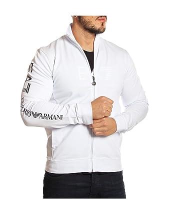 EMPORIO ARMANI - EA7 - Sweat Zippé pour Homme 6P208 - blanc, XXL ... 7cf89657a5e