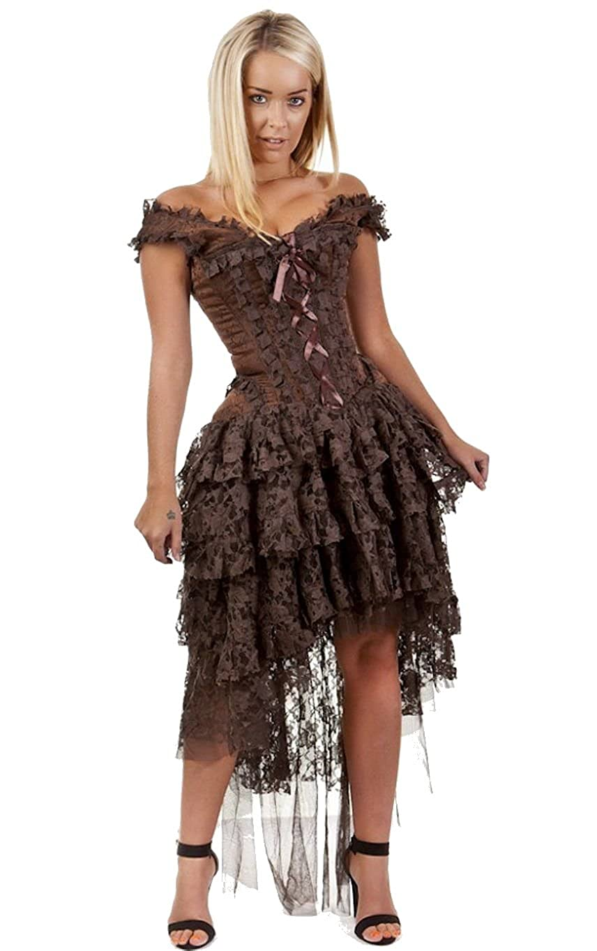 Steampunk Dresses | Women & Girl Costumes Steampunk Corset Dress $139.99 AT vintagedancer.com