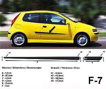 Spangenberg Listones de protección Lateral Fiat Punto Tipo 188 de 3 Puertas Antes de Facelift año de construcción 09.1999-03.2012 F7 (370000701): Amazon.es: ...