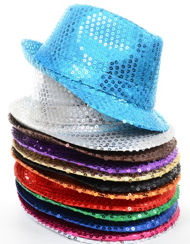 Sparkly Sequins Party Fedora Hat -