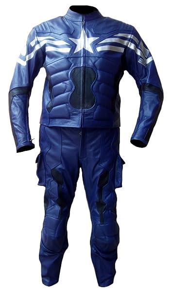 Amazon.com: sleekhides traje de piel auténtica Capitán ...