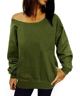 95085a7a13d7d TWKIOUE Women s Sweatshirts Wifey Letter Print Slouchy Pullover Off  Shoulder Sweatshirt
