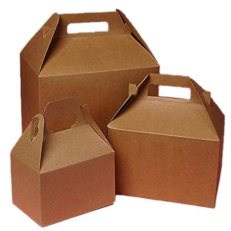 Cartón Mini Kraft Cajas de gablete 4 x 2 – 1/2 X 2 –