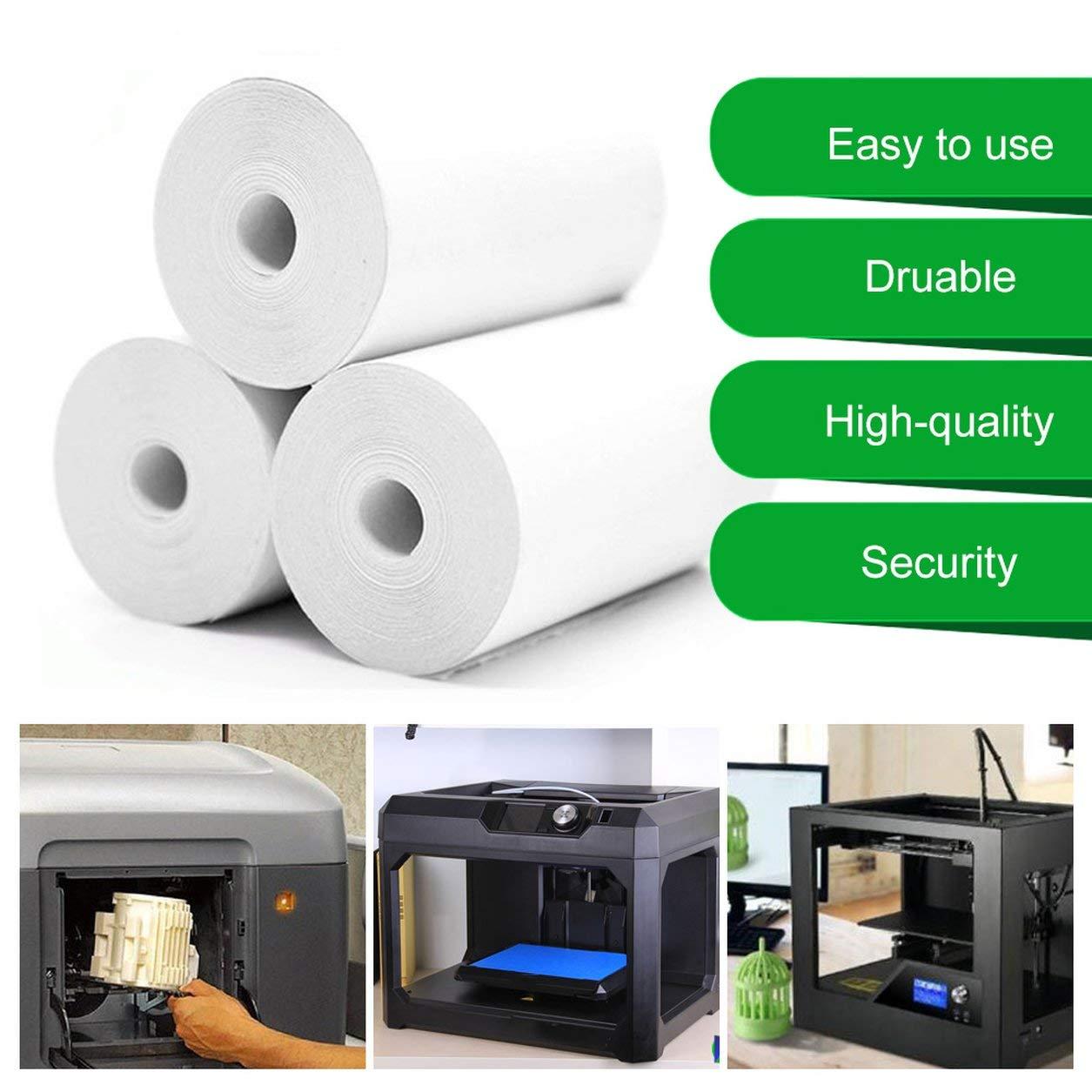Blanc 5 rouleaux de papier autocollant papier thermique direct 57x30mm pour imprimante de poche portable PAPERANG 1 taille