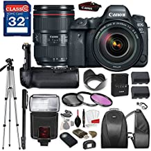 Canon EOS 6D Mark II DSLR Camera with Canon EF 24-105mm f/4L IS II USM Lens, TTL Flash, Tripod, Mono-Pod, Battery Grip + Professional Accessory Bundle