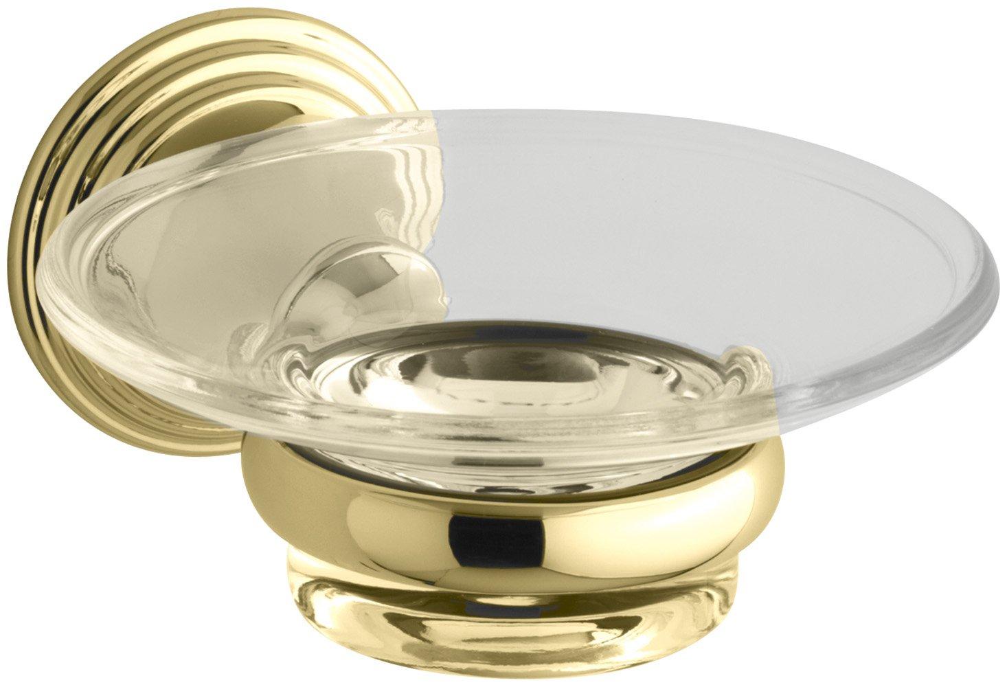 KOHLER K-10560-PB Devonshire Soap Dish, Vibrant Polished Brass