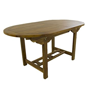 Mesa de jardín Extensible 160/210 cm de Madera Teca | Madera Teca ...
