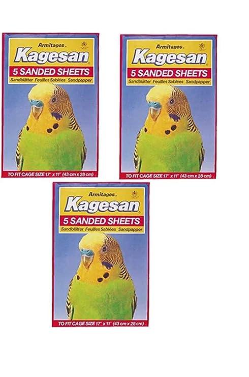RS Pet Kagesan - Hojas de Papel para pájaros (3 x 5, 15 Hojas ...