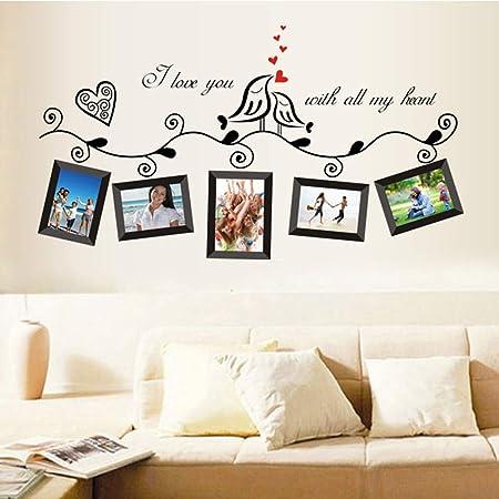 huayang love heart bird wall art stickers vinyl decals family photo