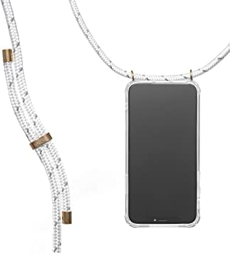 Knok Collier pour t/él/éphone Portable avec Cordon Coque pour iPhone Samsung Huawei Lanyard Case Holder//t/él/éphone Portable iPhone 6 Plus Reflect Black Coque de t/él/éphone Portable avec Cordon