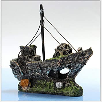 Yansy - Adornos para Acuario, Paisaje, Resina, Pato de Pirata para decoración de Cuenco de pez Dorado, Cuevas de Peces: Amazon.es: Productos para mascotas