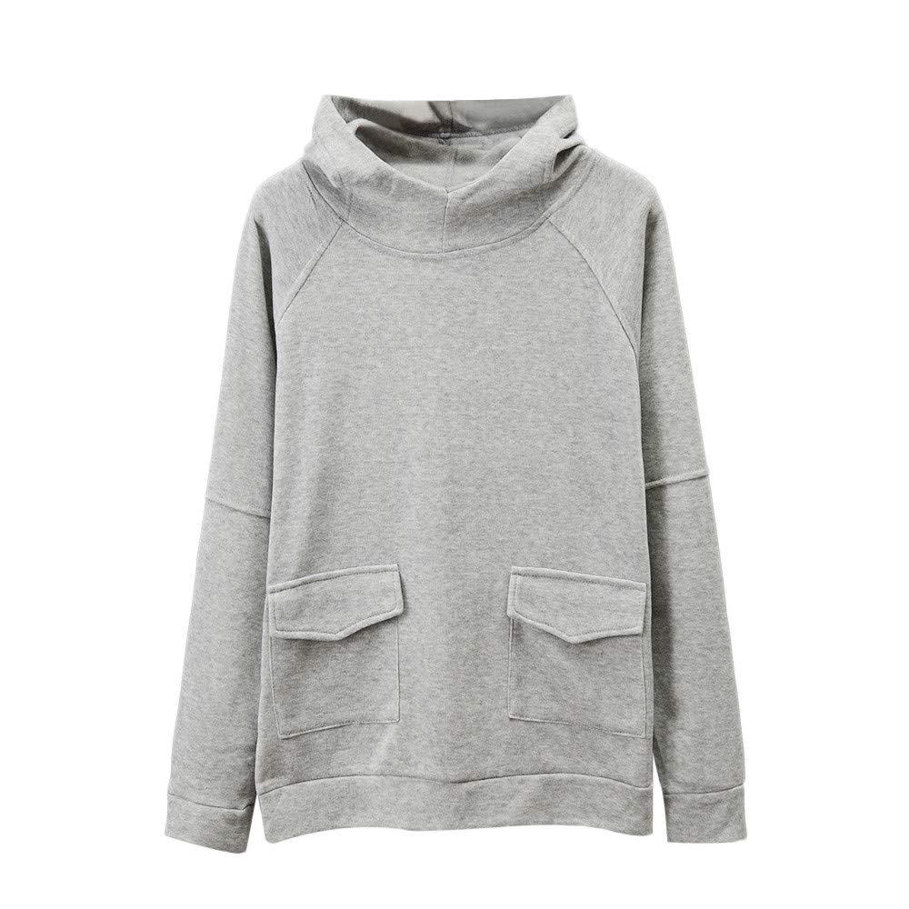 Preferential New Zlolia Mens Autumn Winter Long Sleeve Pocket Hooded Sweatshirt Top Blouse T Shirt