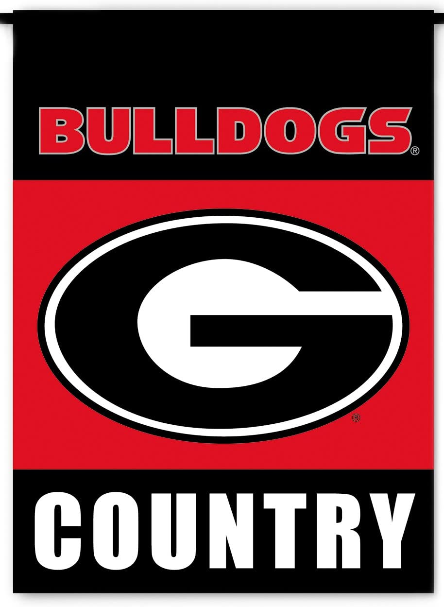 NCAA Georgia Bulldogs 2-Sided Country Garden Flag, Team Color