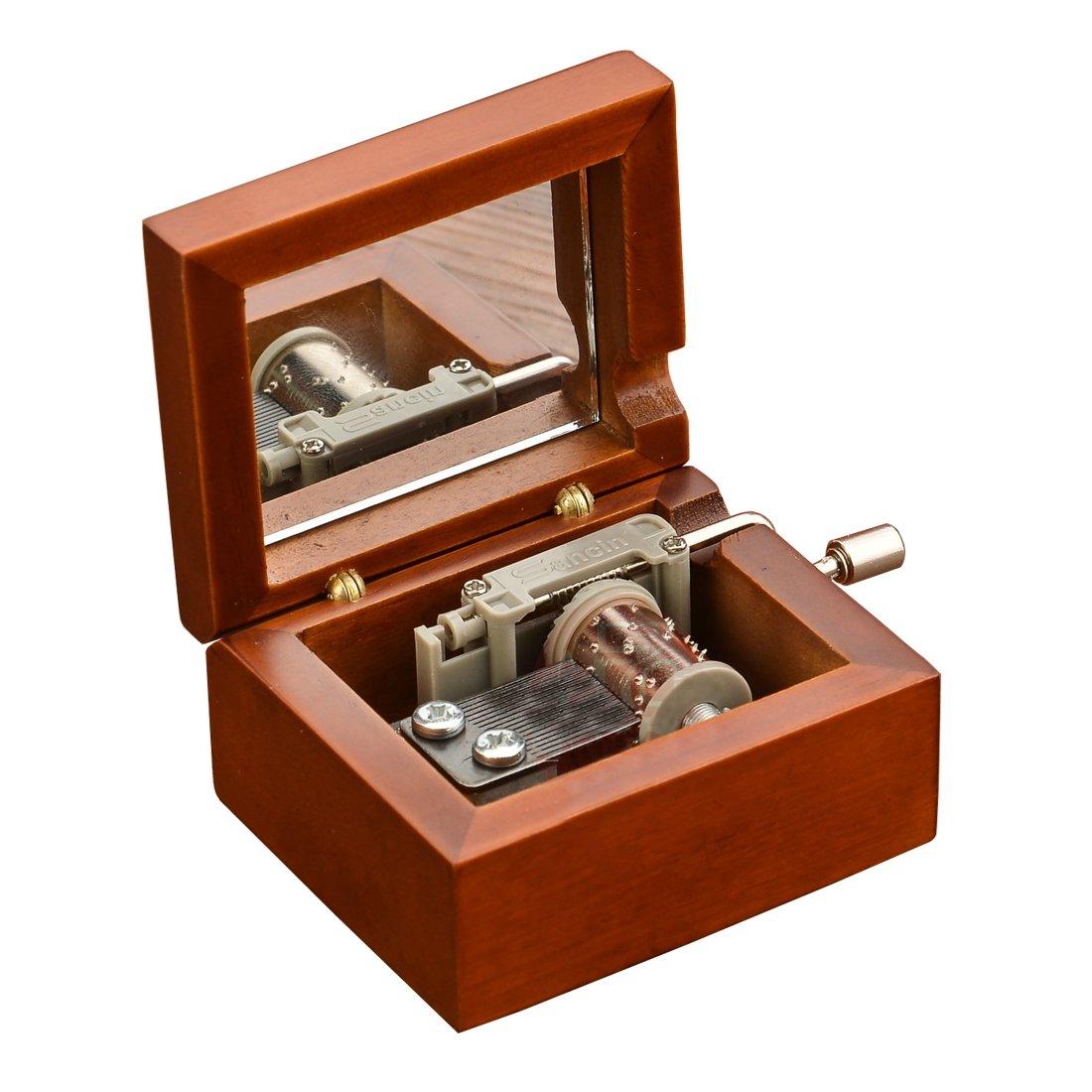 Laxury Mini Size Creative Wooden 18-note Hand-crankMusical Box, Musicl Toys, Tune:Happy Birthday Shenzhen Youtang Trade Co. Ltd MZ50-A38BDJ