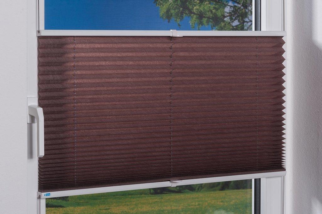K-home Klemmfix-Plissee  80 x x x 210 cm (B x L) Grau Lichtschutz +++ Moderne Crushed Optik +++ B077YKVHZF Plissees 7a479e