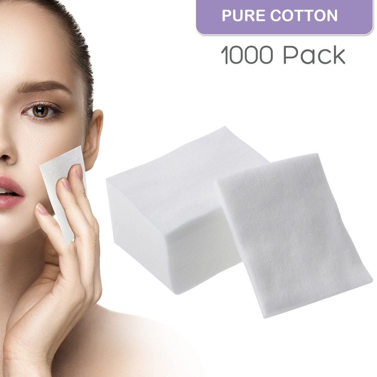 Los cojines de algodó n suaves faciales del maquillaje 1000pcs para la cara componen quitar Frcolor