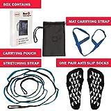 Yoga Set: 3 Products + 1 BONUS: 1 Yoga Stretching Strap + 1 Yoga Mat Carrying Strap + 1 Non-Slip Yoga Socks + BONUS: 1 Mesh Bag with Zipper. Improves Range of Motion in Yoga