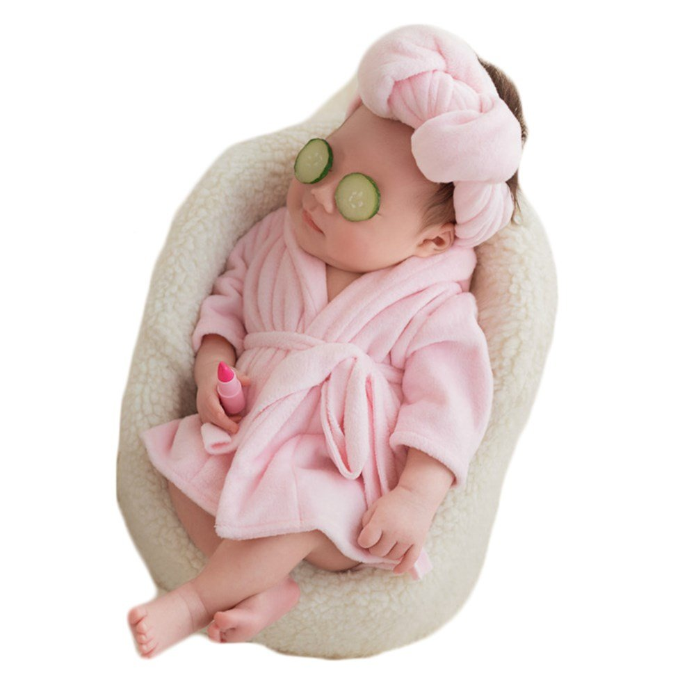 Zeroest Baby Photography Props Towels Bathrobe Newborn Outfits Photos Clothes Set
